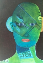Kopf grün