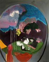 Weltanschauung, Acryl auf Leinwand, 100cmx80cm, 2018