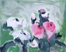 Rosen, Acryl auf Leinwand, 20cm x 20cm, 2012