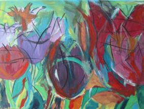 Tulpen, Acryl auf Leinwand, 80cm x 60cm, 2013