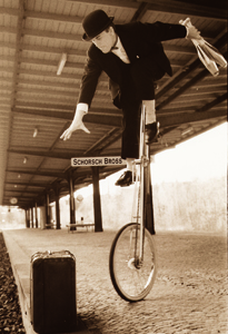 Hochradcomedy mit Schorsch Bross